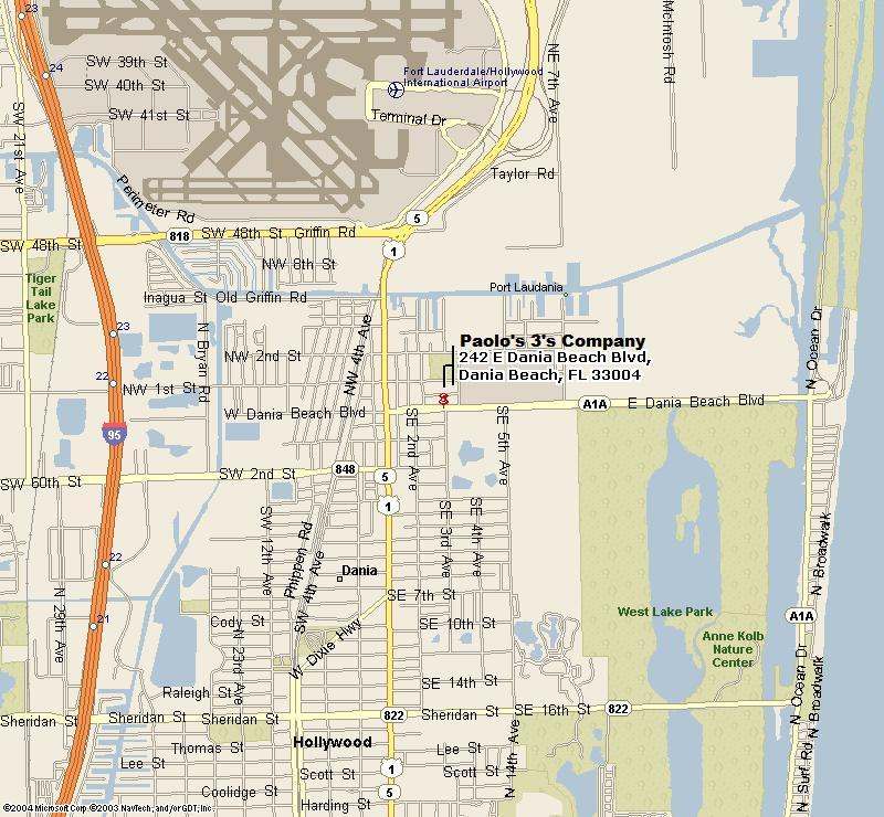 Paolo's 3's Company Restaurant - Map & Directions - (954) 921-4970 on